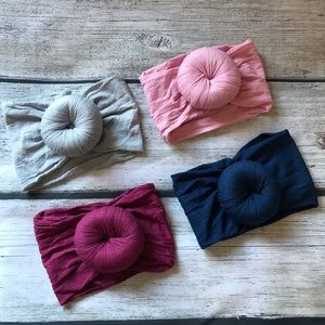 Other - Brand New Set of 4 Baby Girl Turban Knot Headbands